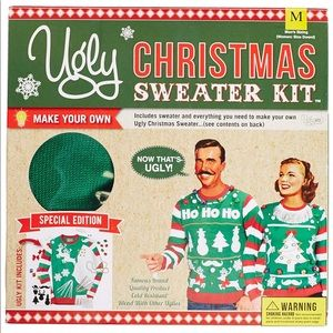 NEW IN BOX Ugly Christmas Sweater Kit Gift Set M